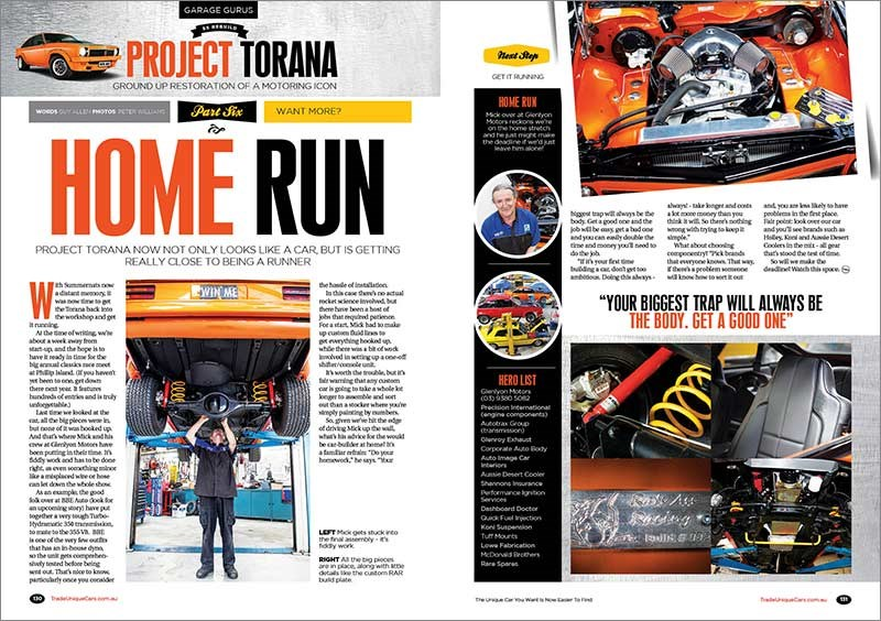 Project Torana update