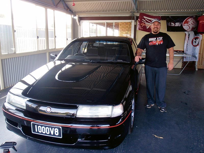 Billy Evans with one of the rarest Group A cars ever made