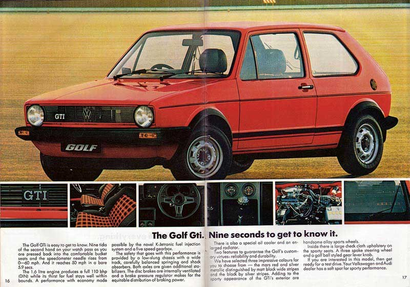 1983 VW Golf brochure