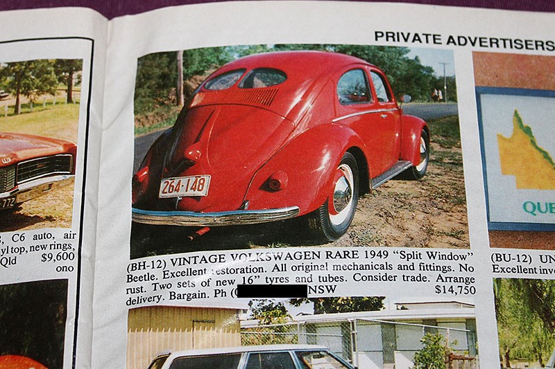 VW BEETLE SPLIT DEC 91