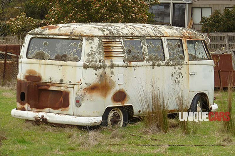 VW Kombi wreck rear