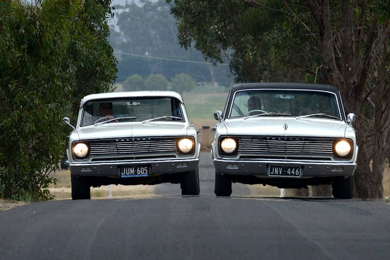 Valiant VC Sedan Wagon onroad front side by side