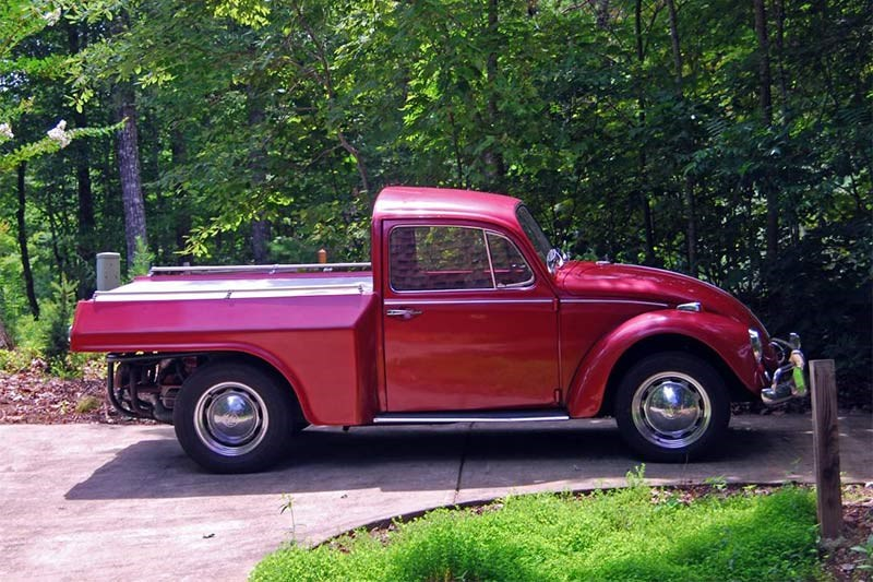 Volkswagen beetle pickup sideview
