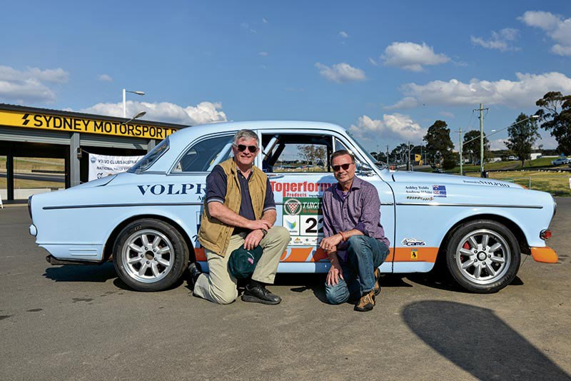 Andrew White & Ashley Yelds and their 1961 Volvo 122S tarmac rally car