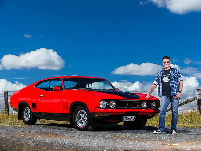Dave DiRado's and his Ford XB Falcon GT 351 Coupe