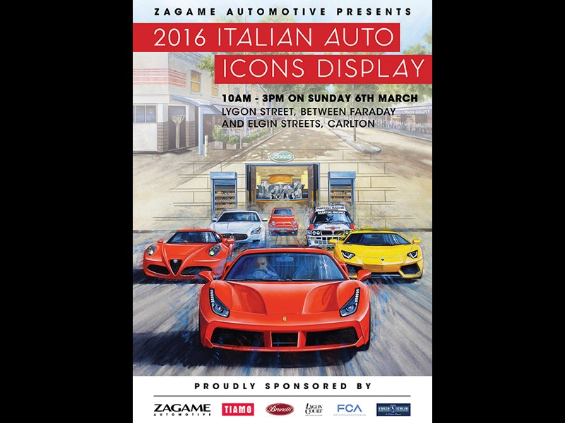ZAG6825 Italian Auto Icons Display Poster 600px FA JPEG