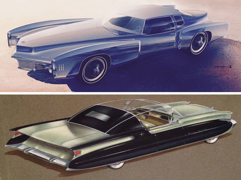 Roger Hughet Oldsmobile Tornado 1968 (top), plus Packard 1953