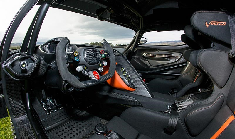 aston martin vulcan interior drivers side