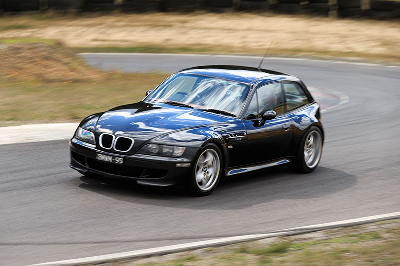 bmw z3 m coupe front angle ontrack