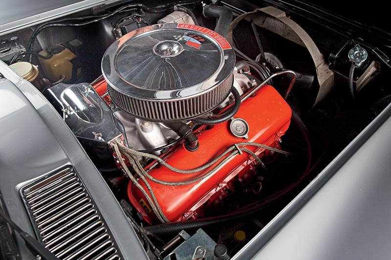 The fuel-injected cars have the most modern-looking engine bays
