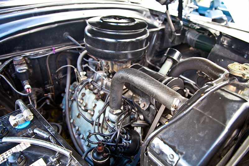ford customline engine bay