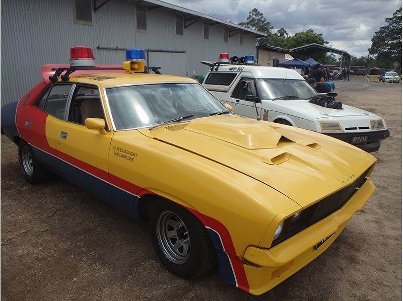 Aussie fans have built a few replicas of Max's black Falcon – so have a few US based fan – but apparently this is the first time the Pursuit Special, stolen by the Night Rider after he 'whacked a young probie' has been replicated. For any classic cars nuts out there with one of these… what a cool way to keep a Monaro resto project alive and cruising while you save the cash for proper panel and paint