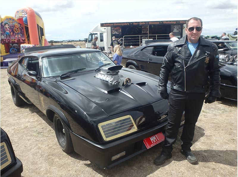 This bloke is a legend. As well as getting up real early – he's a baker - Rod Coverdale brought his two – yep, two - Mad Max cars down from Darwin. This is his 'Max' car and he also owns one of the MFP Interceptors in our pics. Yep, legend. Good on him, we say