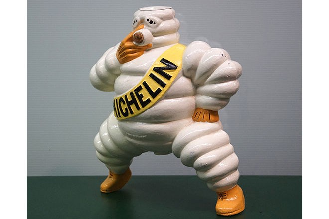 Compressor top – cast steel Michelin Man (35cm) – sold $950