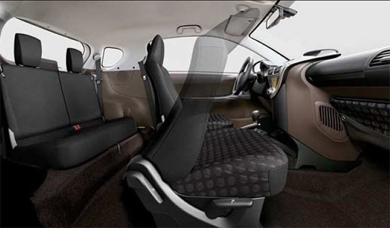Toyota iQ seating