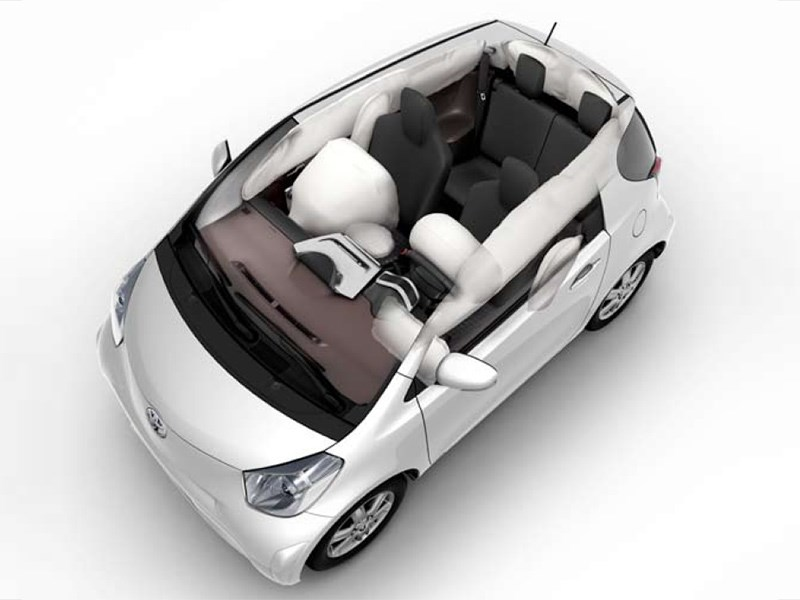 iQ is fitted with nine airbags as standard