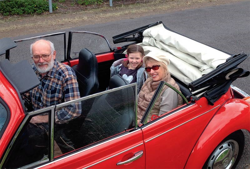 New owner Don loves cruising with his wife and grand-daughter
