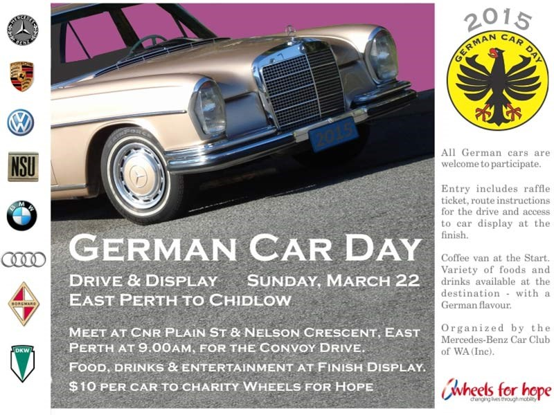 Mercedes-Benz Car Club WA - German Car Display 2015