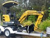 2019 YUCHAI 1.8TON EXCAVATOR AND TRAILER COMBO