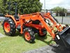 KUBOTA GL-32DT TRACTOR + FRONT END LOADER, 4 IN 1 BUCKET AND SLASHER