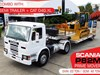 CATERPILLAR CAT D4G.XL ON P82M SCANIA 4X2 PRIME MOVER WITH SEMI TRAILER [MACHTRUCK][MCOMBO][MACHEXC][ATTRAIL] P82M