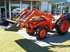 KUBOTA L1-285DT TRACTOR + FRONT END LOADER, 4 IN 1 BUCKET, SLASHER, CARRY ALL & SPRAY TANK