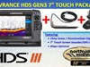 2016 LOWRANCE HDS-7 GEN3 TOUCH + 83/200KHZ TRANSDUCER + STRUCTURESCAN LSS-2 TRANSDUCER PACKAGE (NO MAPS)