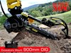 2017 DIGGA 900MM 900mm Hydraulic Trencher suit up to 4.5 Ton Excavators 50-95 LPM