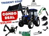 2019 TRIDENT 65HP EOFY COMBO DEAL (FEL + BACKHOE + SLASHER + POST HOLE DIGGER +FORKS) 654