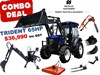 2020 TRIDENT 65HP COMBO DEAL (FEL+BACKHOE+SLASHER+AUGER+FORKS) 654