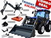 2020 TRIDENT 65HP COMBO DEAL (FEL+BACKHOE+SLASHER+FORKS) 654