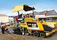 On the road with the Cat AP300 asphalt paver