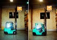 Compared: Mitsubishi LPG gas Grendia FG25N vs. electric FB25CA forklift