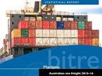 BITRE sees slight up-tick in coastal shipping