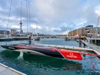 Emirates Team NZ launch their first boat