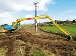 Is this the smallest long-reach excavator in NZ?