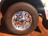 Truck tyre maintenance in the Australian outback