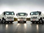 The new Isuzu FYH and FYJ models are available in both 8x4 and 10x4 axle configurations.