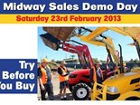 Midway Sales invites you to try before you buy at their demo day in Burpengary QLD.