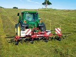 The Fella TH 5204 DN Tedder is an economical option for farmers wanting to get their hay turned quickly and efficiently.