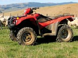 The new Honda TRX500 FPM ATV is a tough workhorse at home in the hills.