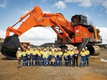 World's first Hitachi EX8000-6 backhoe excavator delivered to Meandu Mine