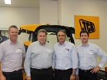 Pictured L to R: Award winners Mick McDonald (Wideland Toowoomba) and Rob McIntosh (Honeycombes), with JCB CEA's representatives Nick Fowler and Anthony Whelan.