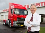 Steve Lotter and a Hino truck