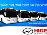 HIGER BUS AND COACH MODEL RANGE PROMOTION