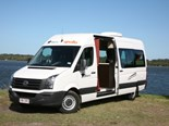 A converted VW Crafter, the Aquila fits in nicely between a small motorhomes or large campervan.