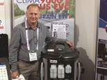 Operator Graham Symons with the Clima-9000P Bus Pro at the Australian Bus + Coach Show 2013