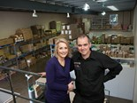 Fiona and Grant Watson at their Mitcham warehouse in Melbourne's outer east