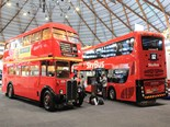 There were some eye-grabbing vintage double-deckers at the Australian Bus + Coach Show in Sydney this month