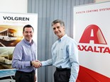 (L-R) Volgren supply chain manager Michael Healy and Axalta ANZ managing director Steven Brett.